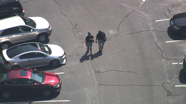 Sky 5 flies over officer-involved shooting in Fayetteville