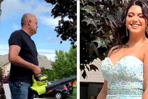 This Adorable Dad Used A Genius Trick To Help His Daughter Get The Perfect Prom Photos (Simplemost Photo)