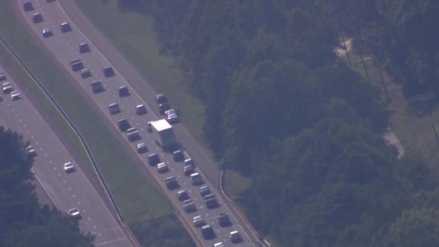 Sky 5 live over I-85 crash in Durham :: WRAL com