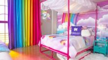 IMAGE: You Can Stay In A Decked-out Lisa Frank Hotel Room That's Like A Blast From The Past