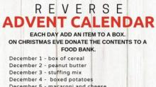 IMAGE: This Genius 'Reverse Advent Calendar' Helps You Make A Generous Donation To Your Local Food Bank