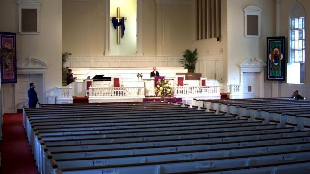 Hayes Barton Baptist Church service