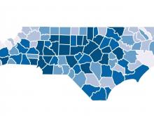 Tracking NC coronavirus cases by county
