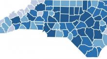 More NC coronavirus maps, graphs and data