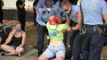 IMAGES: Four arrested in protest over legislation keeping details of death investigations secret