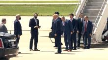 IMAGES: Trump applauds speed of coronavirus vaccine development in Morrisville visit