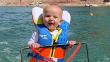 IMAGE: Parents Taught Their 6-month-old To Water Ski And Faced Backlash After Video Went Viral