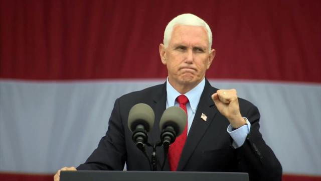 VP Pence campaigns in Selma