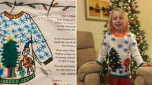 IMAGE: Grandmother Knitted A Holiday Sweater Her Granddaughter Designed Herself