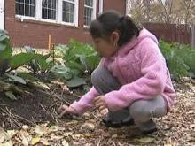 Durham students grow garden