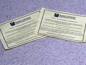 Wake County Schools sent out thousands of postcards to parents that inadvertently contained their children's social security numbers in December 2009.
