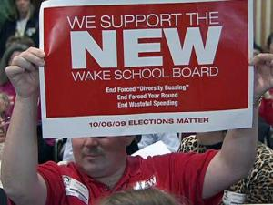 Supporters speak out on Tuesday, March 2, 2010, in favor of the school board's proposal for neighborhood schools, which would end the school system's decade-old diversity policy.