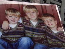 This photo shows Katie Williams' three sons. The youngest is expected to start kindergarten at Heritage Elementary next year.