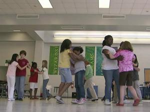 16 students at Washington GT Magnet Elementary School are members of the Ballroom Dancing Club.
