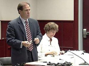 Attorney Kieran Shanahan argues before a Superior Court judge about a lawsuit accusing the Wake County Board of Education of violating the state's Open Meetings Law.