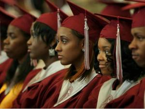 Seniors graduate from Durham County's Josephine D. Clement Early College High School on May 20. (Photo courtesy of Durham Public Schools)