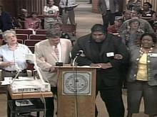 Board meeting video: NAACP protest