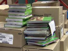 Textbooks in warehouse