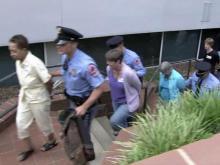 Around round of arrests at Wake schools meeting
