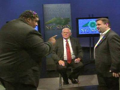 N.C. NAACP president Rev. William Barber and Wake County school board member John Tedesco face off on the set of NC Spin.