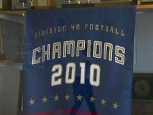 Hillside High 2010 football championship banner