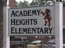Academy Heights Elementary School sign