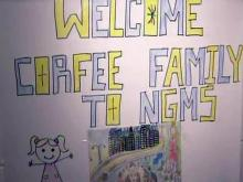 Homesless family thanks Granville students for support