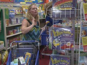 Ahoskie Elementary School fifth grade teacher Michelle Newsome shops for school supplies in Raleigh with the money she was awarded by RBC Bank's Tribute to Teachers program.