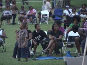 Guests enjoyed music and fellowship on the St. Aug's quad Friday night.