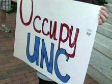 NC students protest over economy, campus problems