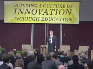"""""""Building a Culture of Innovation Through Education"""" was sponsored by SAS, N.C. State and the Greater Raleigh Chamber of Commerce."""