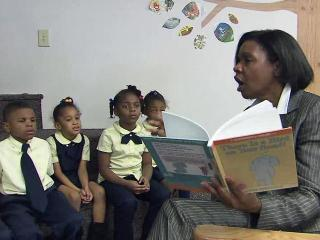 Agatha Brown, head of the Global Scholars Academy in Durham, has published three children's books that help students around the world learn to read.