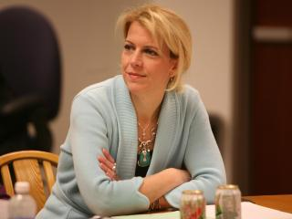 Wake County school board member Debra Goldman during the board's Oct. 30, 2012, work session.