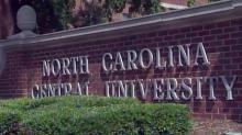 N.C. Central University sign, NCCU