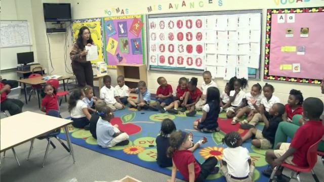Kindergarten students at Northside Elementary School in Warren County are getting a head start learning a foreign language.