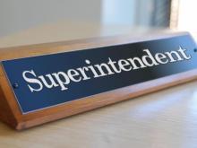 Superintendent plaque