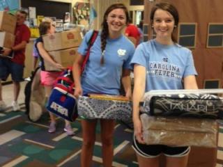 First-year students at UNC-Chapel Hill moved into their dormitories on Aug. 16, 2014.