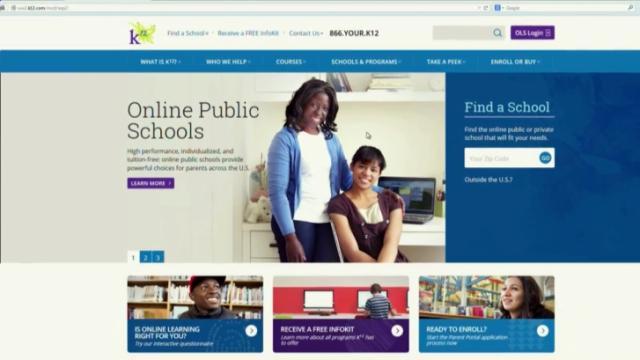 K12 website, virtual charter school, online school