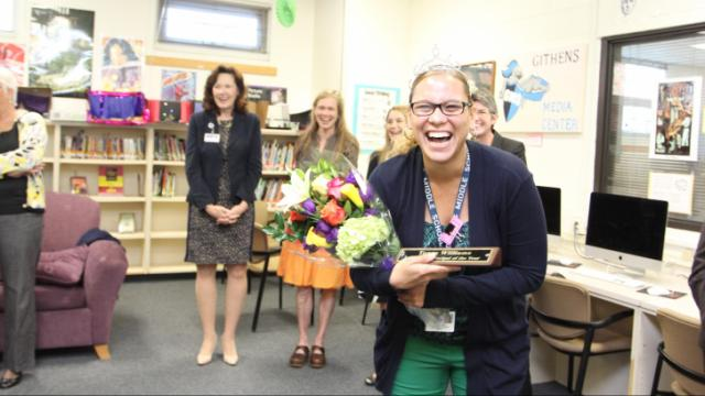 Tonya Williams, principal of Sherwood Githens Middle School, was named 2015 Principal of the Year for Durham Public Schools.