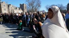 IMAGES: Images: Muslim call to prayer at Duke