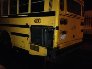 Four children were hospitalized Monday afternoon after the rear engine of a Durham charter school bus overheated.