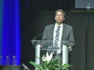 Gov. Pat McCrory pitched his solution to school spending Thursday night to a meeting of school district leaders from across the state.