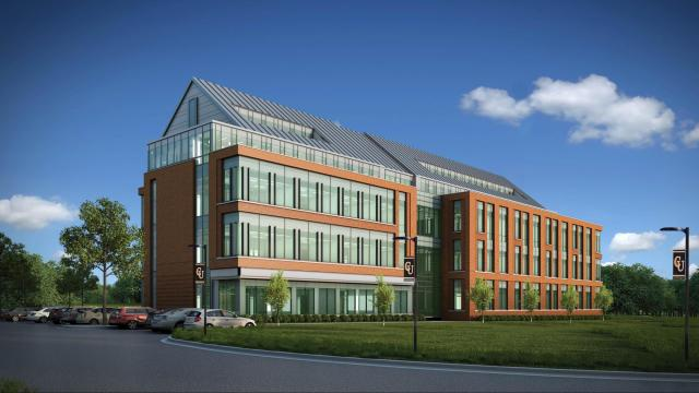 An artist's rendering of Campbell University's School of Nursing