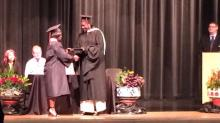 IMAGES: Lone graduate gets Rolesville High diploma