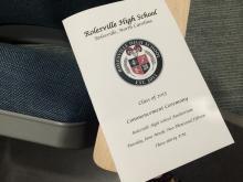 A program detailed the Rolesville graduation ceremony for De'Nique Pickering.