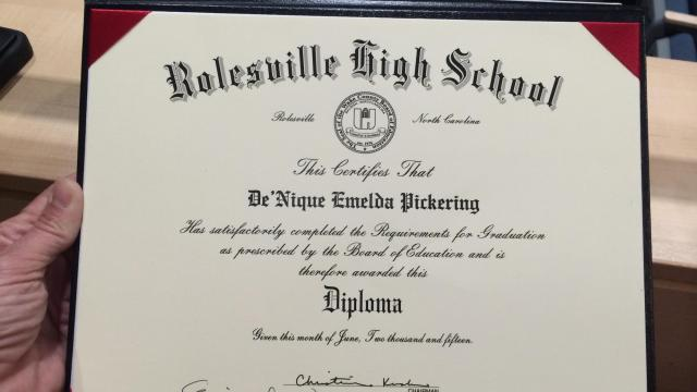 Lone Graduate Gets Rolesville High Diploma Wralcom
