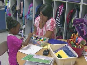 Teachers and assistants work as a team at Willow Springs Elementary School in Wake County.