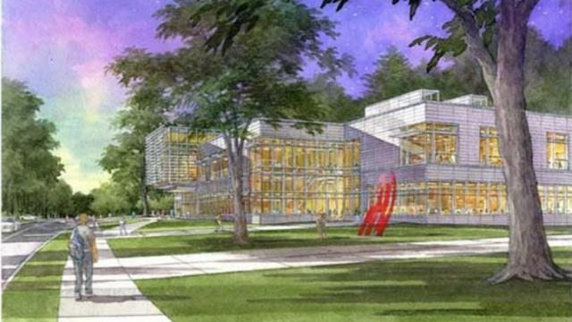 An artist's rendition of the new Duke arts center.