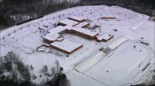 Granville High School under snow