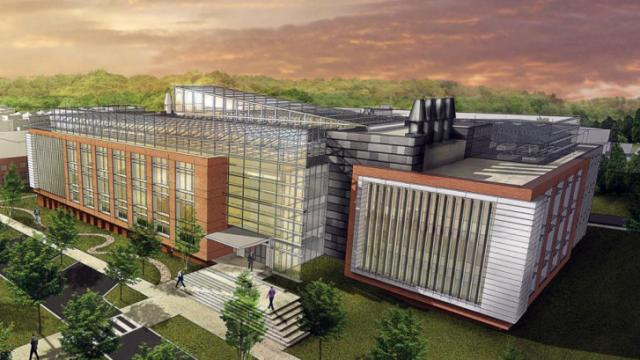 An artist's rendering of the $160.2 million Plant Sciences Research Complex planned for North Carolina State University's Centennial Campus